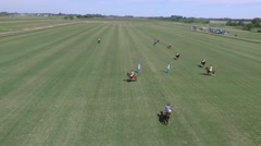 Aerial Polo Match clip Stock Footage