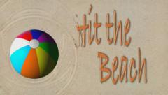 Fun in the Sun beachball Stock Footage