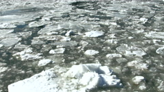 Ice flow in the Hudson Stock Footage
