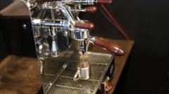 Espresso machine brewing a coffee Stock Footage