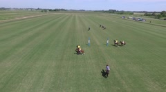 Drone Polo match scene. Stock Footage