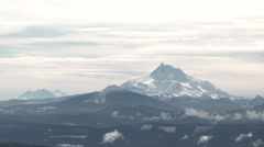 Mt Jefferson And The Cascade Range - stock footage