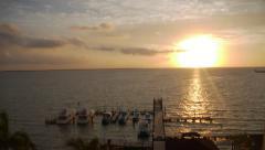 Belize City Pier Sunrise Timelapse - stock footage