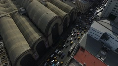 Drone scene from the old central market of Buenos Aires. - stock footage