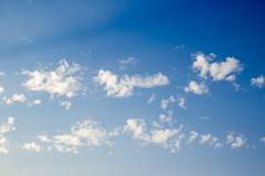 White clouds with blue sky background - stock photo