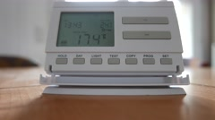 4K Setting Room Thermostat Temperature Up Celsius 2 - stock footage