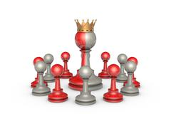 Democracy (chess metaphor) Stock Illustration