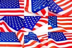 United States of America flag. - stock photo