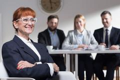 Job activation of people 50+ Stock Photos