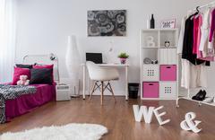 Punk girl room design - stock photo
