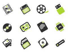 Information carriers icons Stock Illustration