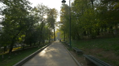 Paved alley in Veliki Park, Sarajevo Stock Footage