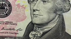 United States Currency Ten Dollar Bill Stock Footage