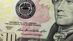United States Currency Ten Dollar Bill - stock footage