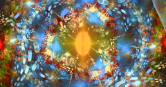 4K  abstract multicolored geometric motion background seamless looping fractal - stock footage