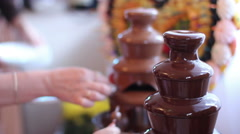 Delicacy with fruits and chocolate Stock Footage