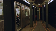 Wall Street Subway Station New York City Stock Footage