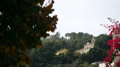 Beautiful mansion house, green forest mountain town, Monchique, Portugal Stock Footage