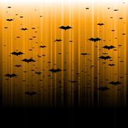 Halloween bat background - stock illustration