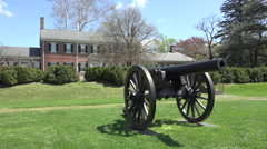 Fredericksburg Virginia historic Chatham Manor cannon Civil War HD 025 Stock Footage