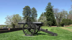 Fredericksburg Virginia historic Chatham Manor Civil War cannon HD 023 Stock Footage