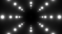 A series of lights simulating a light tunnel.  Stock Footage