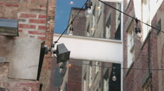 Ally Way Lights in New York City Stock Footage