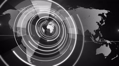 abstract circle round globe background LOOP 4K colorless - stock footage