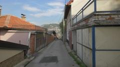 Čeljigovići street with houses in Sarajevo Stock Footage