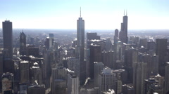 Chicago Illinois downtown cityscape wide angle 4k Stock Footage