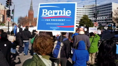 Slow motion of Bernie Sanders supporters Arkistovideo