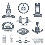 Country England label template of emblem element for your product or design, web Stock Illustration