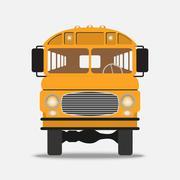 Yellow School Bus Illustration Piirros