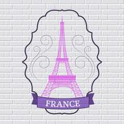 Country France set label template of emblem element for your product or design Stock Illustration