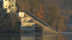 Staircase to the church on Bled island, Bled Stock Footage