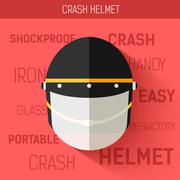 Helmet for self protect. Vector icon illustration background. Colorful template Stock Illustration