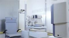 Empty seat at Optometrist for scanning eyesight 4K - stock footage