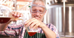 Brewery worker checking the product Stock Footage