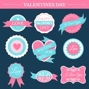 love romantic set retro label template of emblem element for your product or - stock illustration