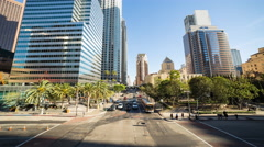 Downtown Los Angeles Street Day Timelapse Stock Footage