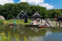 Open air museum in the netherlands Stock Photos