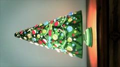 Vintage Christmas Tree  Lamp Spinning (Vertical) - stock footage
