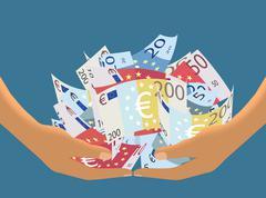 Euro Cash Haul (Vector) Stock Illustration