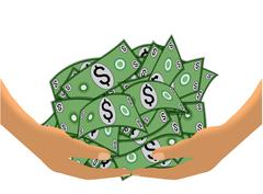 Stock Illustration of Cash Haul on White (Vector)