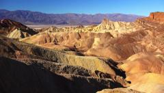 Zabriskie Point in Death Valley Stock Footage