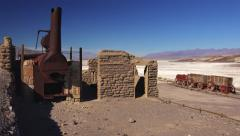The Remains of Harmony Borax Works in Death Valley Stock Footage