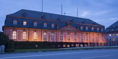State chancellery state parliament Mainz state capital RhinelandPalatinate - stock photo