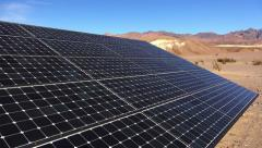 Solar Panels in Death Valley National Park - stock footage