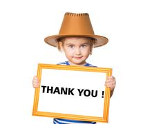 Text  thank you. - stock photo