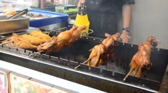 Grilled chicken vietnamese style - stock footage